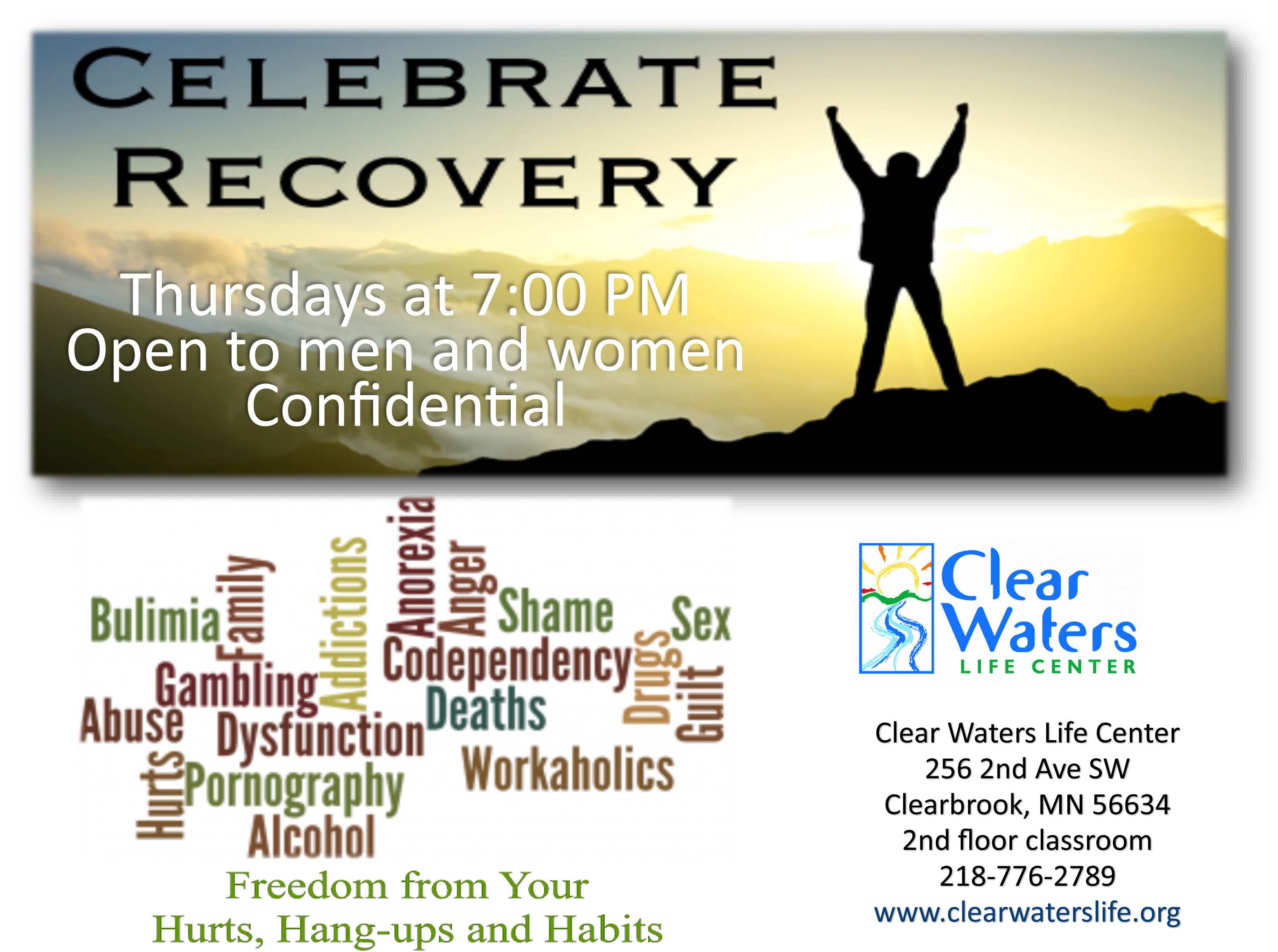 Celebrate Recovery Clearbrook @ Clear Waters Life Center | Clearbrook | Minnesota | United States